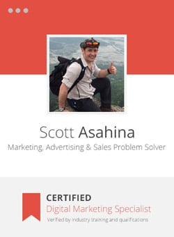 Scott Asahina - Certified Digital Marketing Professional