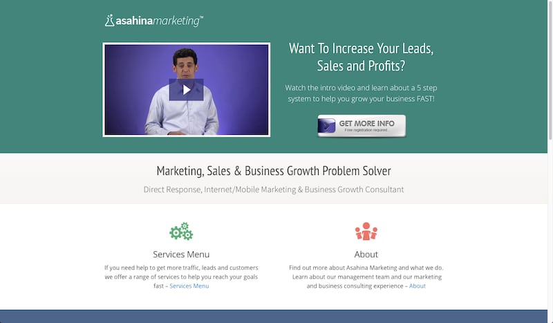 Asahina Marketing Website 2011
